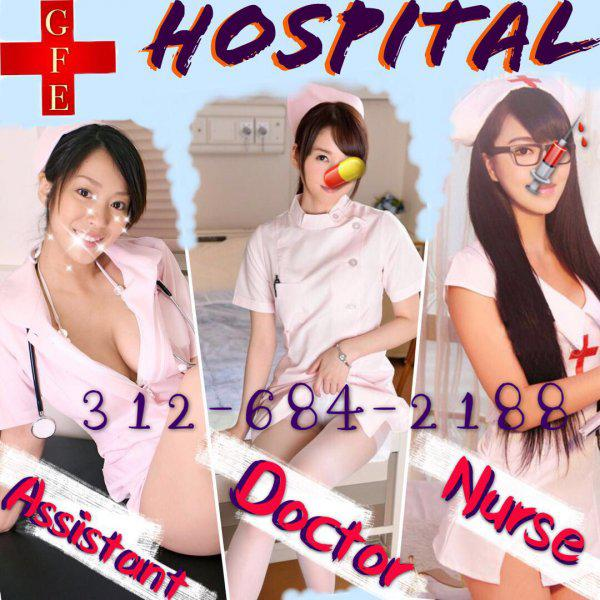"3 ""Evil Angels In White"" Unload Your Seeds In Patient Bed & Gyno Chair"